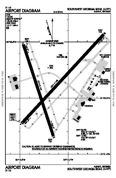 Southwest Georgia Rgnl Airport (Albany, GA): KABY Airport Diagram
