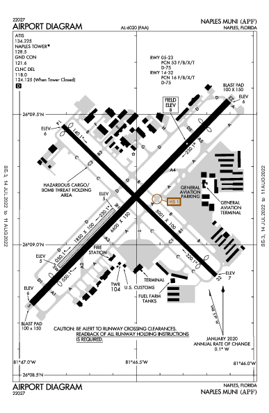 Naples Muni Airport (Naples, FL): KAPF Airport Diagram