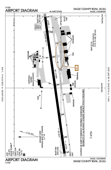 Eagle County Rgnl Airport (Eagle, CO): KEGE Airport Diagram
