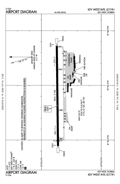 Int'l de Cayo Hueso Airport (Key West, FL): KEYW Airport Diagram