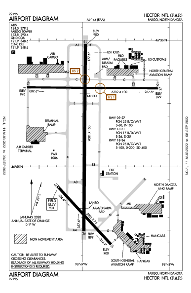 Hector Intl Airport (Fargo, ND): KFAR Airport Diagram