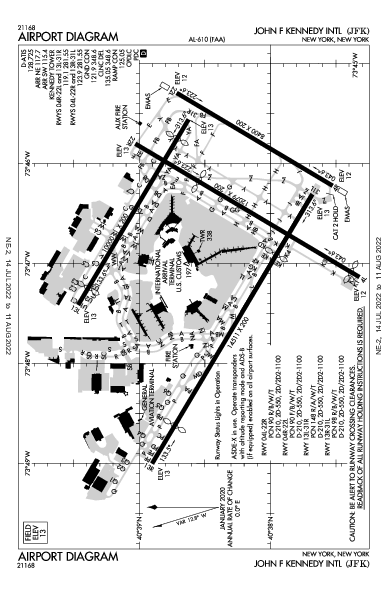 John F. Kennedy Int'l Airport (New York, NY): KJFK Airport Diagram