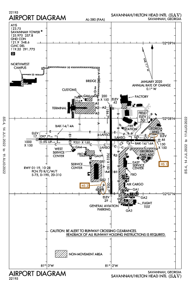 Savannah/Hilton Head Intl Savannah, GA (KSAV): AIRPORT DIAGRAM (APD)